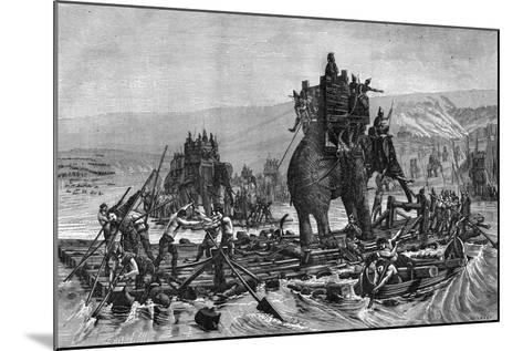Hannibal Crossing the Rhone, 218 BC (1882-188)--Mounted Giclee Print