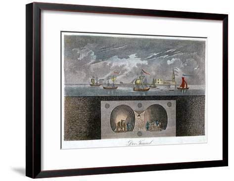 Thames Tunnel, C1830--Framed Art Print