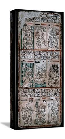 A Page from the Dresden Codex, Maya Manuscript, 1901--Stretched Canvas Print