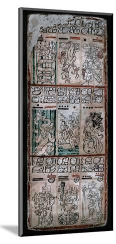 A Page from the Dresden Codex, Maya Manuscript, 1901--Mounted Giclee Print