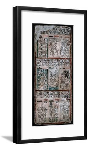 A Page from the Dresden Codex, Maya Manuscript, 1901--Framed Art Print