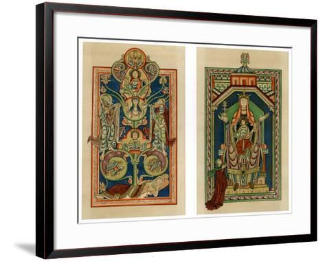Tree of Jesse and Virgin and Child Enthroned, C1130-1140--Framed Art Print