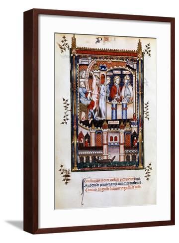 St Denis in Chains, 1317--Framed Art Print