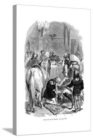 Edward II and the Minstrel--Stretched Canvas Print