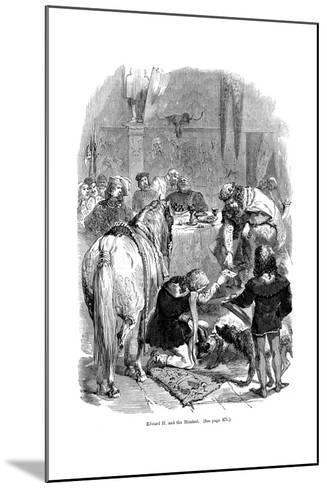 Edward II and the Minstrel--Mounted Giclee Print