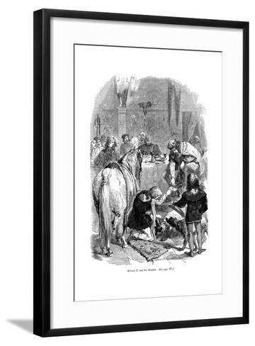 Edward II and the Minstrel--Framed Art Print