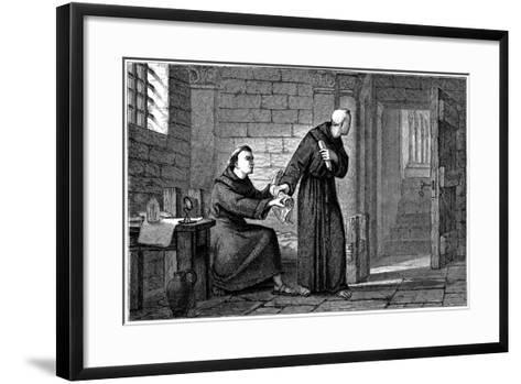 Roger Bacon, English Experimental Scientist, Philosopher and Franciscan Friar--Framed Art Print
