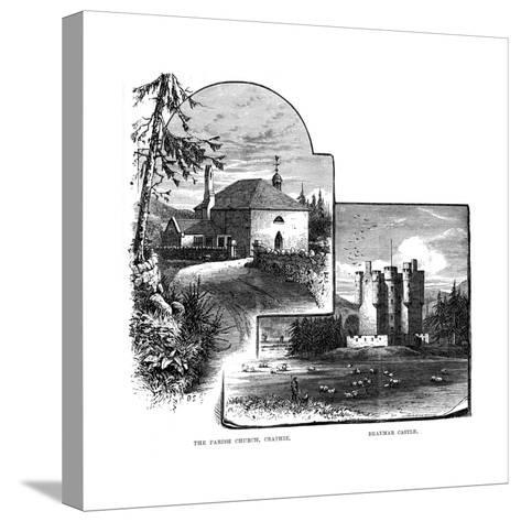 The Parish Church, Crathie, and Braemar Castle, Scotland, 1900--Stretched Canvas Print