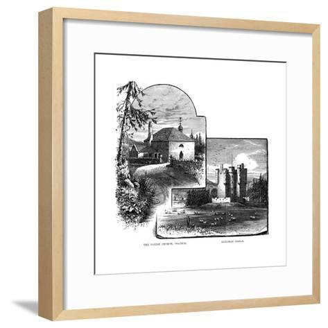 The Parish Church, Crathie, and Braemar Castle, Scotland, 1900--Framed Art Print