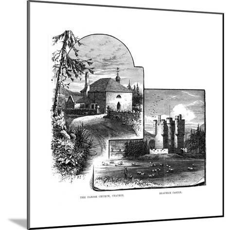 The Parish Church, Crathie, and Braemar Castle, Scotland, 1900--Mounted Giclee Print