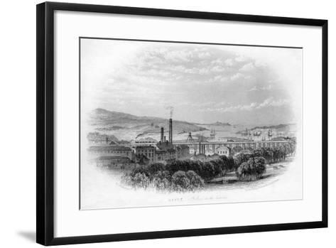 Hayle St Ives in the Distance, C1860-RT Pentreath-Framed Art Print