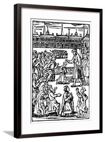 Shabbetai Zevi (1626-167), Turkish-Born Jew Who Claimed to Be the Messiah--Framed Art Print