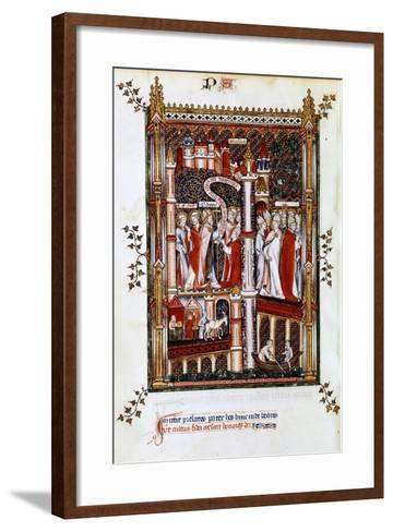 St Denis Sends Out Missionaries, 1317--Framed Art Print