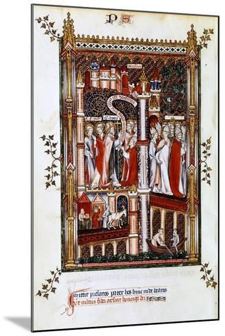 St Denis Sends Out Missionaries, 1317--Mounted Giclee Print
