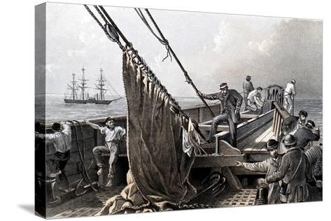 Laying the Transatlantic Telegraph Cable, 1865--Stretched Canvas Print