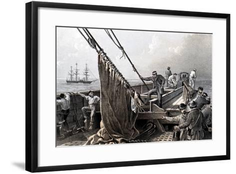Laying the Transatlantic Telegraph Cable, 1865--Framed Art Print