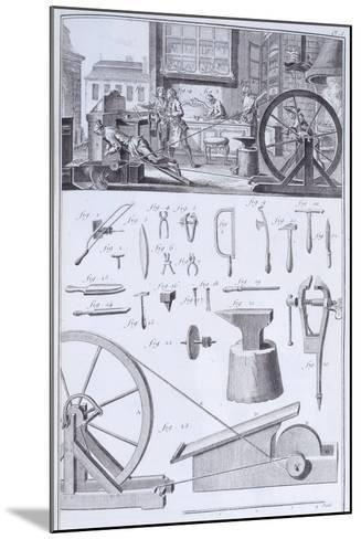 Cutlery-Making, C1750S--Mounted Giclee Print