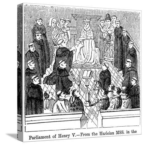 The Parliament of King Henry V (1387-142)--Stretched Canvas Print
