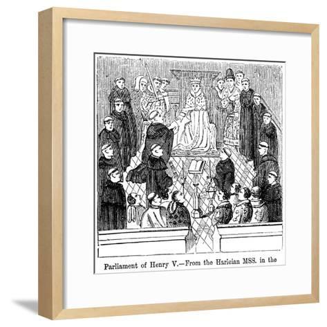 The Parliament of King Henry V (1387-142)--Framed Art Print