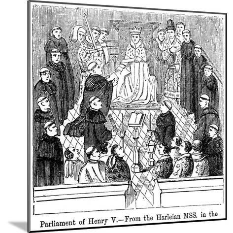 The Parliament of King Henry V (1387-142)--Mounted Giclee Print