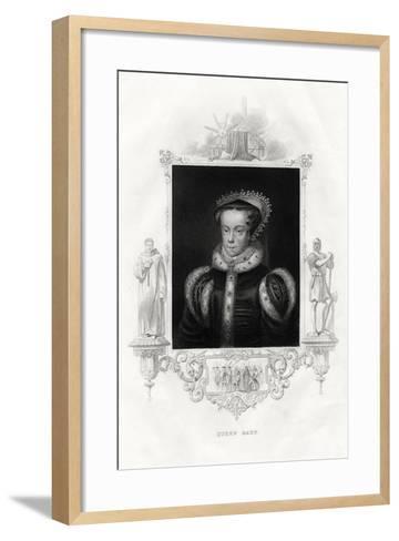 Mary I (1516-155), also known as Mary Tudor, 1860--Framed Art Print