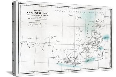 Western Franz Josef Land, 1896--Stretched Canvas Print