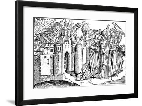 Destruction of Sodom and Gomorrah by Earthquake, 1493--Framed Art Print