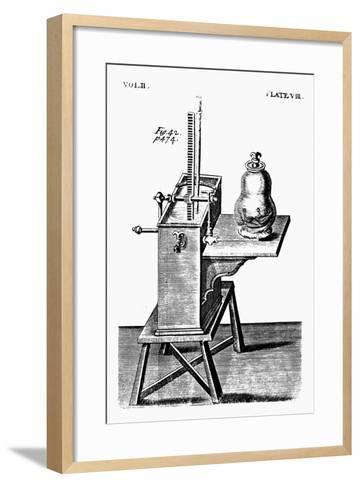 Robert Boyle's Second Air Pump, C1660--Framed Art Print