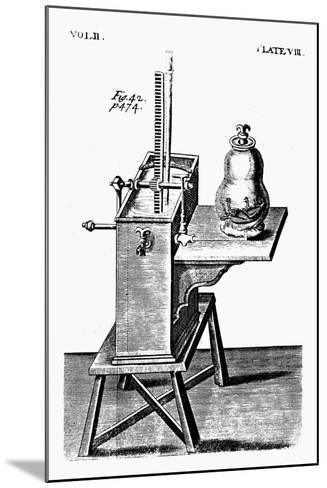 Robert Boyle's Second Air Pump, C1660--Mounted Giclee Print