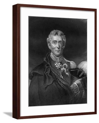 Arthur Wellesley, 1st Duke of Wellington, British Soldier and Statesman, 19th Century- Lightfoot-Framed Art Print