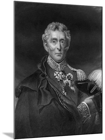 Arthur Wellesley, 1st Duke of Wellington, British Soldier and Statesman, 19th Century- Lightfoot-Mounted Giclee Print