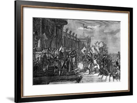 The Distribution of the Eagle Standards, Paris, 5th December 1804-Jacques Louis David-Framed Art Print