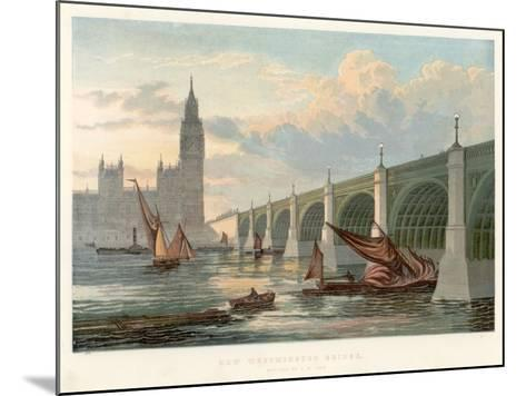 Westminster Bridge, London, Looking from the South Bank of the Thames, 1858--Mounted Giclee Print