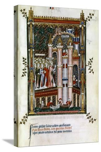 St Denis at the Gates of Paris, 1317--Stretched Canvas Print