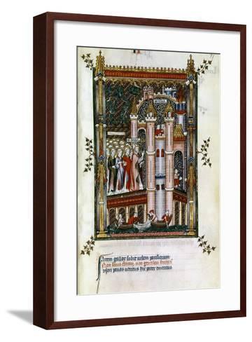 St Denis at the Gates of Paris, 1317--Framed Art Print