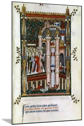 St Denis at the Gates of Paris, 1317--Mounted Giclee Print