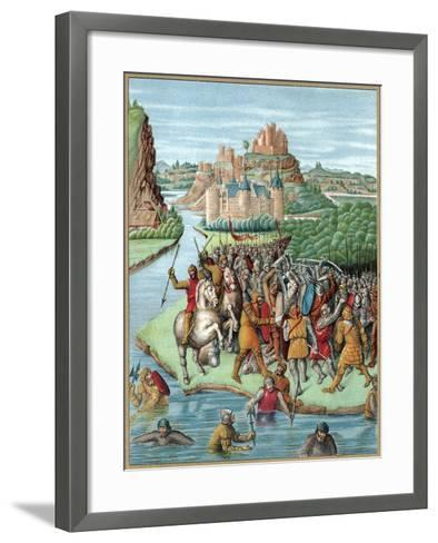 Battle Between Bacchides and Jonathan, Maccabean Revolt, 160 BC--Framed Art Print