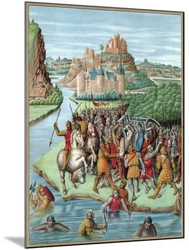 Battle Between Bacchides and Jonathan, Maccabean Revolt, 160 BC--Mounted Giclee Print