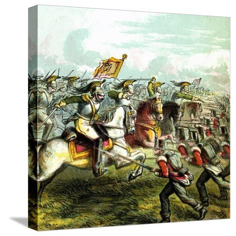 The Battle of Waterloo, 1815--Stretched Canvas Print