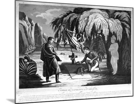 The Ghost of Napoleon on St Helena, C1825--Mounted Giclee Print