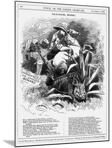 Pig-Stickers, Beware!, 1878-Edward Linley Sambourne-Mounted Giclee Print