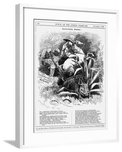 Pig-Stickers, Beware!, 1878-Edward Linley Sambourne-Framed Art Print