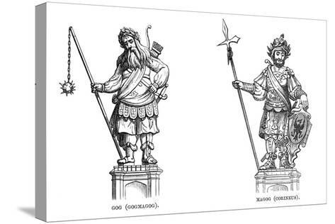 Statues of Gog (Gogmago) and Magog (Corineu), 1886--Stretched Canvas Print