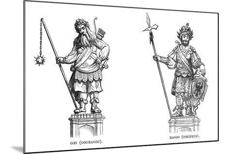 Statues of Gog (Gogmago) and Magog (Corineu), 1886--Mounted Giclee Print