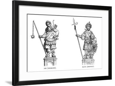 Statues of Gog (Gogmago) and Magog (Corineu), 1886--Framed Art Print