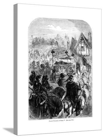 The Funeral Procession of King Henry V, 1422--Stretched Canvas Print