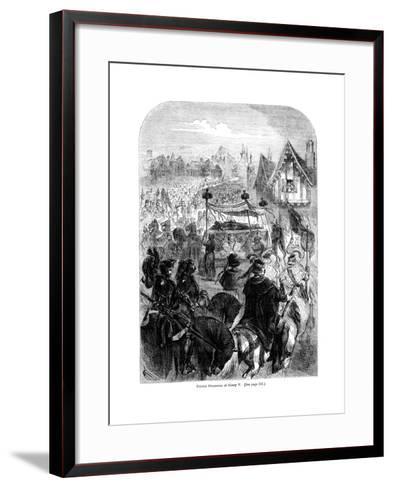 The Funeral Procession of King Henry V, 1422--Framed Art Print