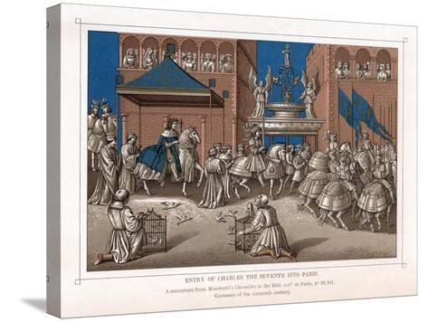 Triumphal Entry of Charles VII, King of France, into Paris, C1435--Stretched Canvas Print