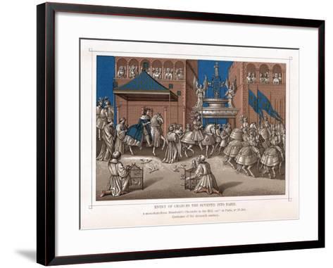 Triumphal Entry of Charles VII, King of France, into Paris, C1435--Framed Art Print
