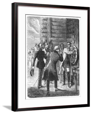 First Chappe Telegraph Message from St Petersburg, Early 19th Century--Framed Art Print
